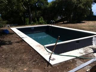 Tras la reparación del vaso de la piscina