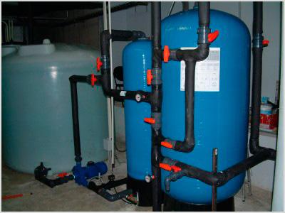 Ejemplo real de instalación con filtración de agua
