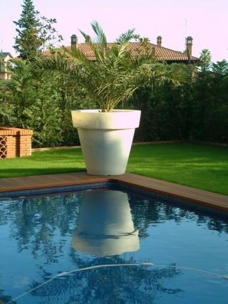 Decoración original en piscina