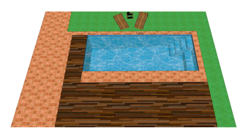 construccion de piscinas plano de muestra