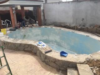 Reforma de piscina Baptista - Durante