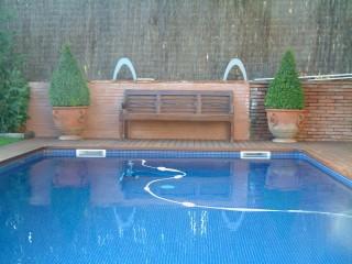 Ejemplo de piscina con sistema de limpieza Polaris