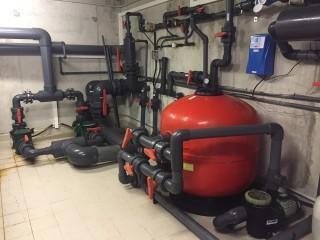 Equipo de mantenimiento de piscinas
