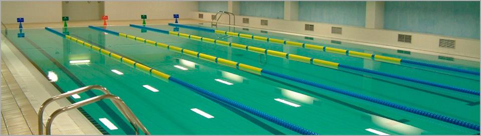 Piscina pública cubierta para nadar